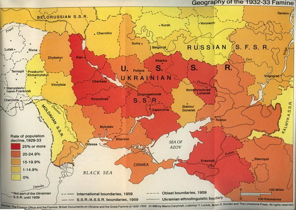 The Golodomor map